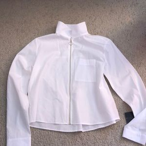 Zara white zip up jacket